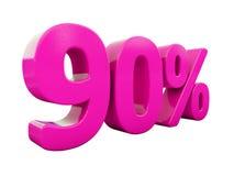 Muestra rosada del 90 por ciento Imágenes de archivo libres de regalías