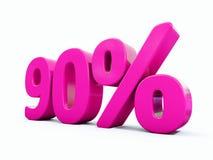 Muestra rosada del 90 por ciento Fotografía de archivo libre de regalías