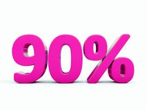Muestra rosada del 90 por ciento Imagen de archivo libre de regalías