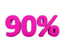 Muestra rosada del 90 por ciento Fotos de archivo libres de regalías