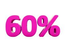 Muestra rosada del 60 por ciento Stock de ilustración