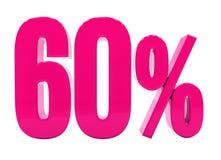 Muestra rosada del 60 por ciento Foto de archivo libre de regalías