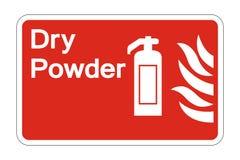 muestra seca del símbolo de la seguridad del polvo del fuego del símbolo en el fondo blanco, ejemplo del vector ilustración del vector