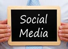 Muestra social de los media fotografía de archivo libre de regalías