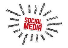 Muestra social de los media Fotos de archivo