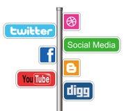 Muestra social de los media stock de ilustración