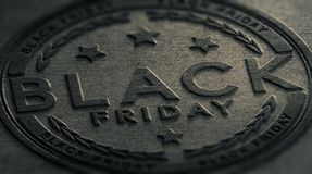 Muestra sucia del evento de Black Friday Imagen de archivo libre de regalías