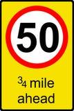 Muestra temporal del límite de velocidad a continuación ilustración del vector