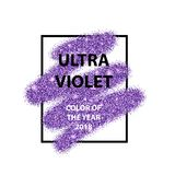 Muestra ultravioleta en brillo púrpura vibrante color stock de ilustración