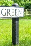 Muestra verde Imagen de archivo libre de regalías