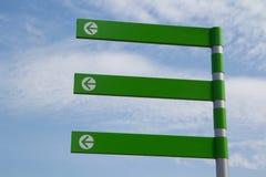 Muestra verde de la flecha Foto de archivo libre de regalías
