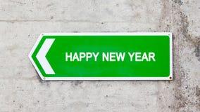 Muestra verde - Feliz Año Nuevo Fotos de archivo