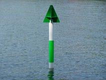 Muestra verde y blanca del envío Imagenes de archivo