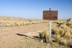 Muestra y camino oxidados Fotografía de archivo libre de regalías