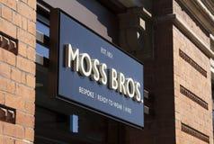 Muestra y entrada, Lincoln, Lincolnshire, Reino Unido de Moss Bros - 5 de abril imágenes de archivo libres de regalías