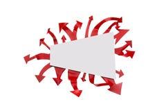 Muestra y flechas en blanco Fotos de archivo libres de regalías