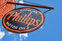 Muestra y logotipo de la gasolinera Phillips 66 Imagenes de archivo