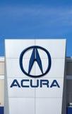 Muestra y logotipo de la representación del automóvil de Acura Imagenes de archivo