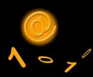 Muestra y números anaranjados del email ilustración del vector