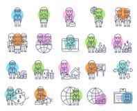 Muestra y s?mbolo del sistema del icono del negocio y de las finanzas libre illustration