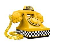Muestra y teléfono amarillos del coche del taxi libre illustration