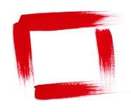 Muestras ásperas de la pintura. Frontera y líneas del capítulo Imágenes de archivo libres de regalías