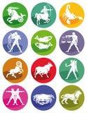 Muestras astrológicas del zodiaco Imágenes de archivo libres de regalías