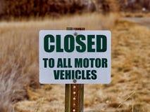 Muestras: Cerrado a todos los vehículos de motor fotos de archivo libres de regalías