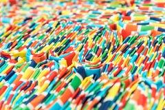 Muestras coloridas de la tela Foto de archivo libre de regalías