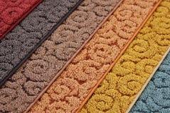 Muestras de alfombra Imagen de archivo