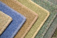 Muestras de alfombra Imágenes de archivo libres de regalías