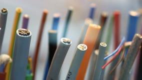 Muestras de cables y de alambres en la EXPO almacen de metraje de vídeo