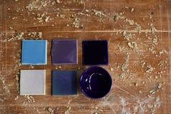 Muestras de cerámica fotografía de archivo