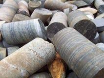 Muestras de cobre de base Imagen de archivo libre de regalías