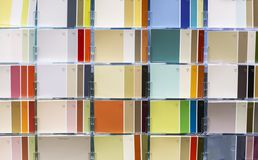Muestras de combinaciones de color La paleta de colores armoniosos imagenes de archivo
