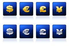 Muestras de dinero en circulación reales Stock de ilustración