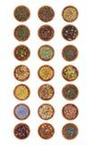 21 muestras de hojas de té Fotografía de archivo libre de regalías