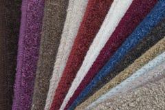 Muestras de la alfombra Foto de archivo
