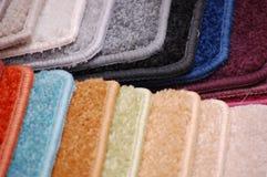 Muestras de la alfombra Imagen de archivo libre de regalías
