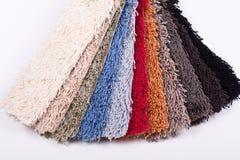 Muestras de la alfombra Imágenes de archivo libres de regalías