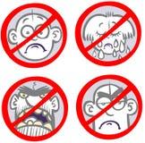 muestras de la Anti-tristeza. stock de ilustración