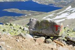 Muestras de la asociación noruega del senderismo fotografía de archivo libre de regalías