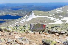 Muestras de la asociación noruega del senderismo fotos de archivo