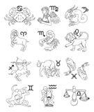 Muestras de la astrología del horóscopo del zodiaco Imagen de archivo