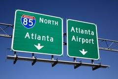 Muestras de la autopista sin peaje de Atlanta Imagen de archivo