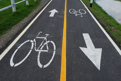Muestras de la bicicleta en la manera de la bicicleta Imagenes de archivo