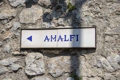 Muestras de la costa de Amalfi imagen de archivo