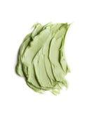 Muestras de la crema de cara aisladas en blanco Imagen de archivo libre de regalías