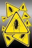 Muestras de la cucaracha Stock de ilustración