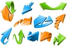 Muestras de la flecha ilustración del vector